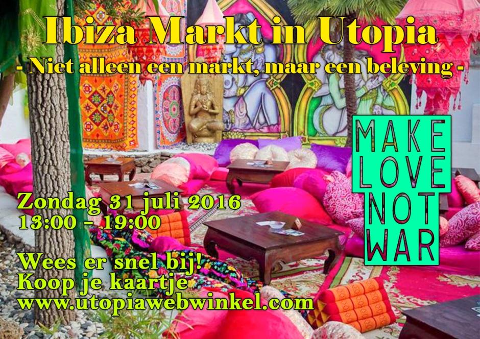 Poster Hippie Markt